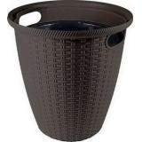 Кашпо напольное Ротанг D 233мм/7 л с внутренним горшком 4,5 л горький шоколад ING6214ГШК (8)